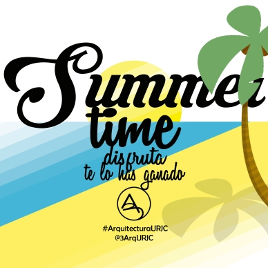 cartel summer time Arquitectura URJC