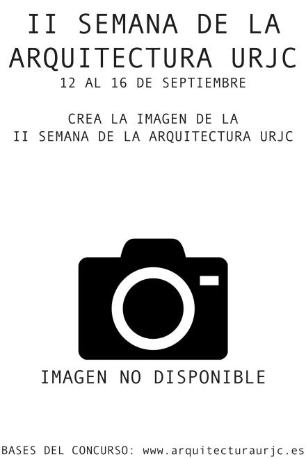 CARTEL II SEMANA DE LA ARQUITECTURA URJC